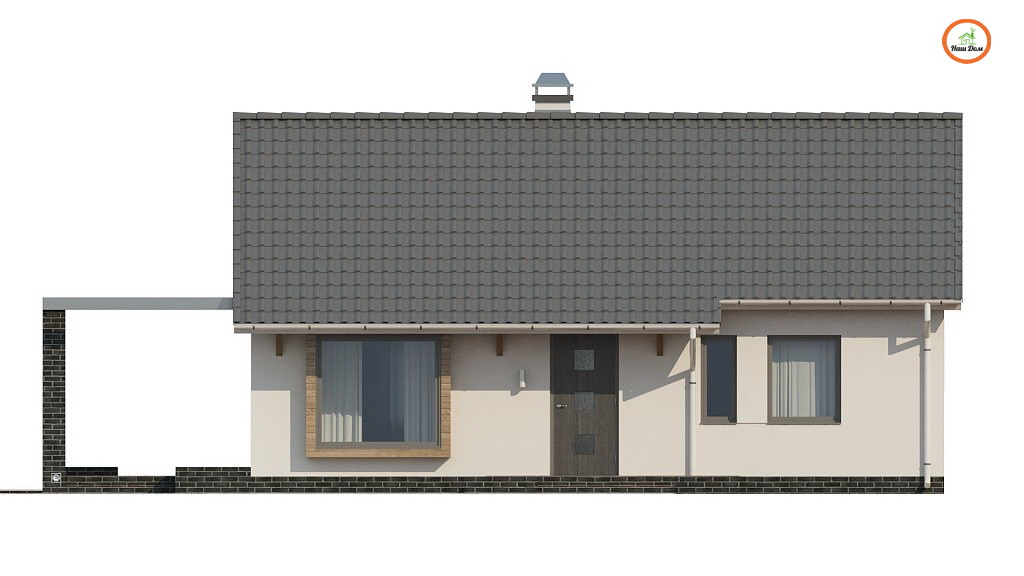 Фасад 4 каркасного дома Z-139