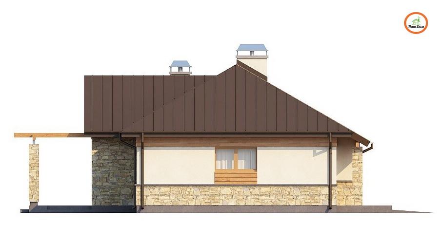 Фасад 2 каркасного дома Z-151