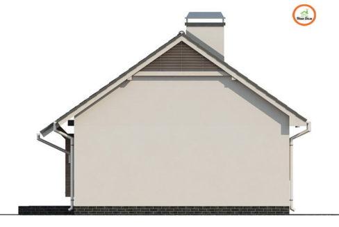 Фасад 3 каркасного дома Z-139