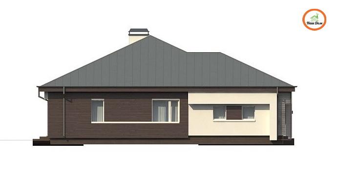 Фасад 4 каркасного дома Z-200
