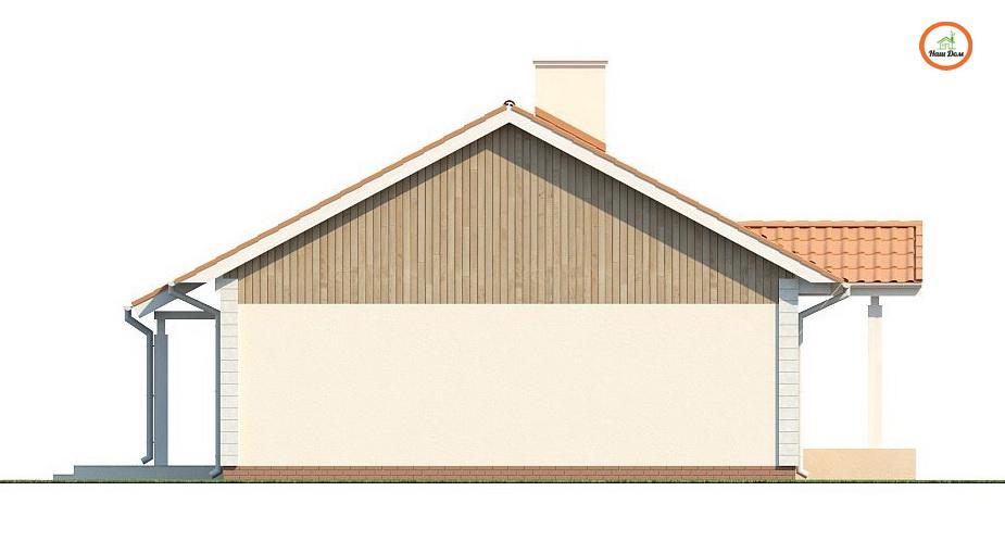 Фасад 3 каркасного дома Z-91