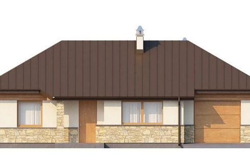 Фасад 3 каркасного дома Z-151