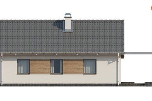 Фасад 1 каркасного дома Z-139