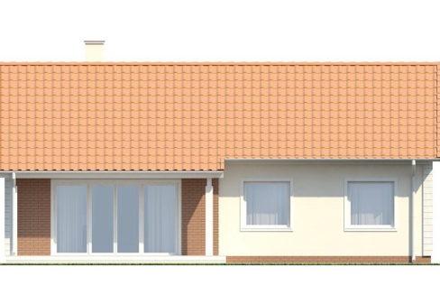 Фасад 4 каркасного дома Z-91